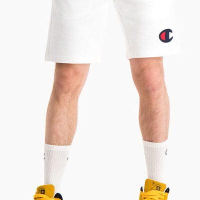 Pantalón corto CHAMPION chándal Hombre C LOGO COTTON TERRY White Ref. 214192 blanco