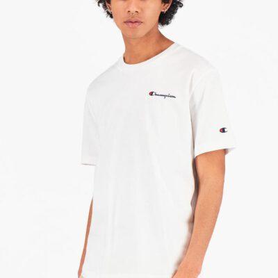 Camiseta CHAMPION Hombre manga corta Cuello redondo SMALL SCRIPT LOGO T-SHIRT White Ref. 215940 blanco