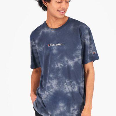 Camiseta CHAMPION Hombre manga corta Cuello redondo TIE DYE T-SHIRT Dark Turquoise Ref. 216164 Azul degradado