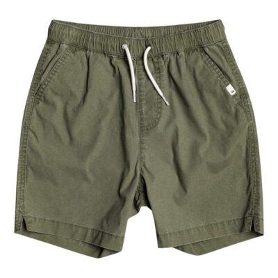 Pantalón corto niño QUIKSILVER Short elástico Taxer FOUR LEAF CLOVER (gph0) Ref. EQBWS03330 verde caqui