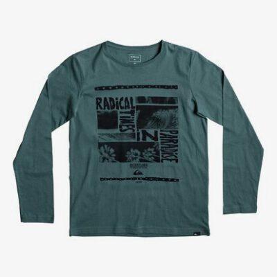 Camiseta manga larga niño Quiksilver Classic Radical Trip (gpa0) Ref. EQBZT03567 verde logo pecho