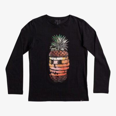 Camiseta QUIKSILVER manga larga niño Classic Hot Pineapple BLACK (kvj0) Ref. EQBZT03574 Negra piña