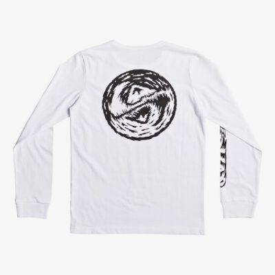 Camiseta QUIKSILVER manga larga niño Bad Vision WHITE (wbb0) Ref. EQBZT03589 blanca logo pecho espalda y manga