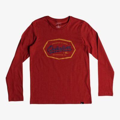 Camiseta QUIKSILVER manga larga niño Living On The Edge Red (rqk0) Ref. EQBZT03839 Rojo logo pecho