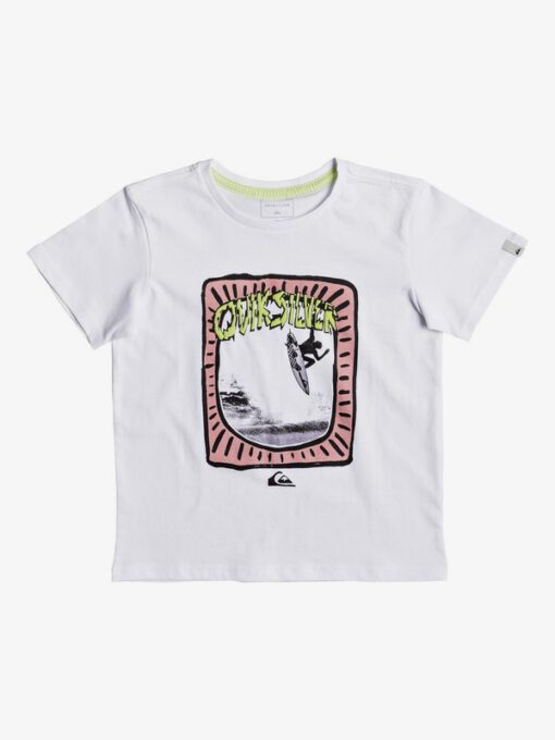 Camiseta QUIKSILVER manga corta niño surfera Classic Hulu Pena WHITE (wbb0) Ref. EQKZT03193 blanca divertida