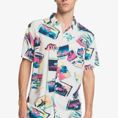Camisa QUIKSILVER surfera Manga Hombre Tropical Vacancy SNOW WHITE VACANCY (wbk6) Ref. EQYWT03956 multicolor surfera