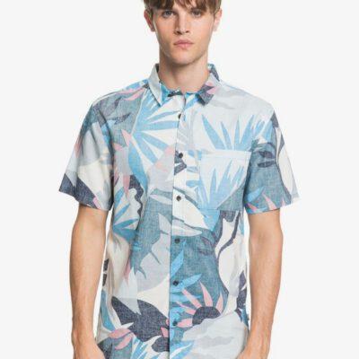Camisa QUIKSILVER surfera Manga corta Hombre Tropical BLITH TROPICAL FLORAL (bmm6) Ref. EQYWT03982 azul flores