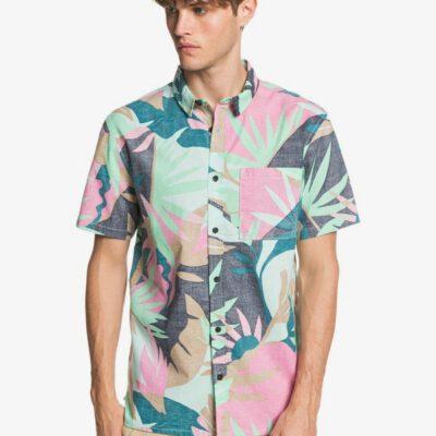 Camisa QUIKSILVER surfera Manga Hombre Tropical BEACH GLASS TROPICAL FLORAL (gcz6) Ref. EQYWT039829 rosa flores