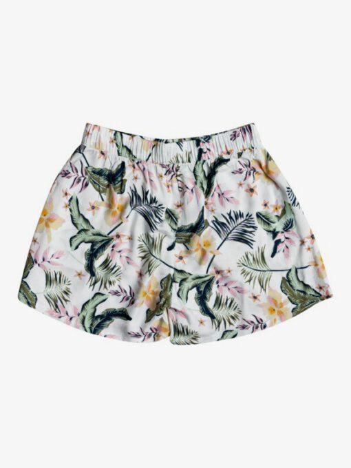 Pantalón corto ROXY hort para playa para niña Ho Hey SNOW WHITE RG PRASLIN (wbk9) Ref. ERGNS03087 blanco flores tropical