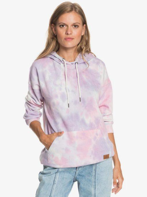 Sudadera ROXY suave con capucha Mujer Ocean Goer ORCHID PETAL NO FLOWERS FLY T (pfj8) Ref. ERJFT04393 rosa tie die