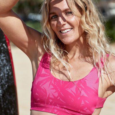 Sujetador de bikini ROXY una pieza para Mujer estilo bralette POP Surf FLOR DE TEXTURA PÚRPURA (xwmm) Ref. ERJX304329 rosa floral