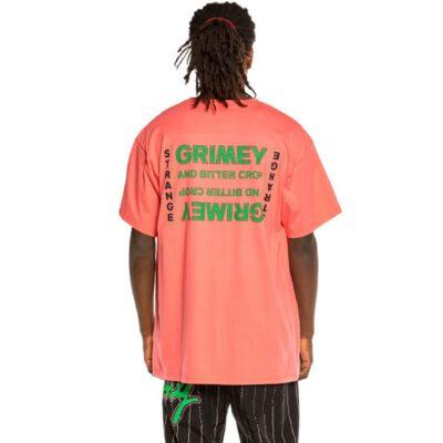 "Camiseta GRIMEY manga corta unisex ""Bitter Crop"" - Coral Ref. GA593-FW21 coral"
