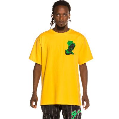 "Camiseta GRIMEY manga corta unisex ""Bitter Crop"" - Yellow Ref. GA593-FW21 amarilla"