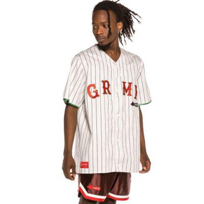 "Camiseta GRIMEY manga corta Beisbol Unisex Grimey ""The Loot - El botín"" - White Ref. GBSH115-WHT-U Blanca y roja"