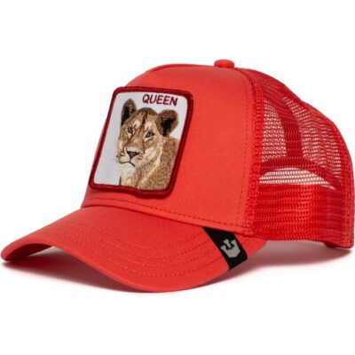 Gorra Animales GOORIN BROS BUTCH TRUCKER rejilla/ajustable leona Strong Queen roja