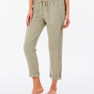 Pantalón fluido RIP CURL práctico y cómodo para Mujer Panoma Stone Ref. GPABN9 verde oliva
