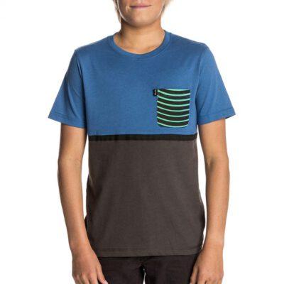 Camiseta RIP CURL Niño manga corta surfera Combine Pocket SS Tee Turkish Ref. KTELW4 azul bolsillo pecho