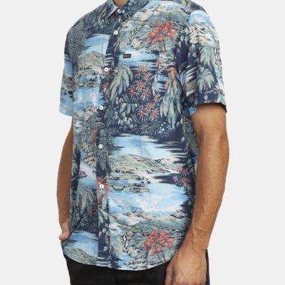 Camisa de Manga Corta Hombre RVCA PARADISO FLORAL MULTI (1220) Ref. U1SHRXRVF0 Estampado floral multicolor tropical