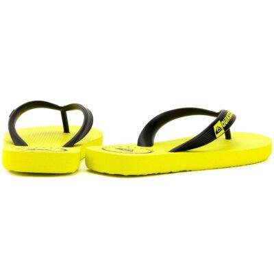 Sandalias QUIKSILVER Chanclas goma playa niño Java Wordmark (xkyy) Ref. AQBL100019 amarilla/negra