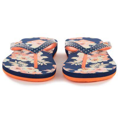 Sandalias ROXY Chanclas goma playa niña Pebbles Flip-Flops (COB) Ref. ARGL100031 Azul/naranja flores/topos