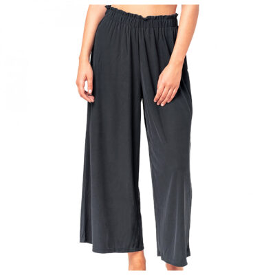 Pantalón holgado RIP CURL pierna ancha para Mujer Amber Dancer Black Ref. GPAES4 negro liso