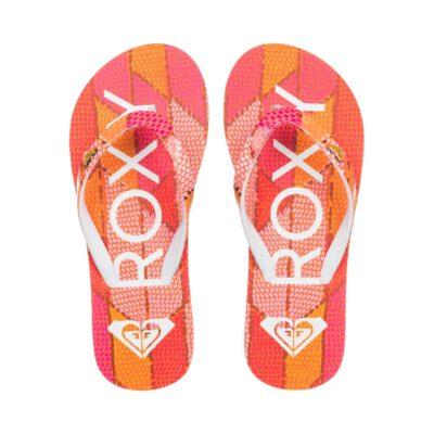 Sandalias ROXY Chanclas goma playa niña Pebbles Flip-Flops (PIP) Ref. ARGL100031 rosa/naranja