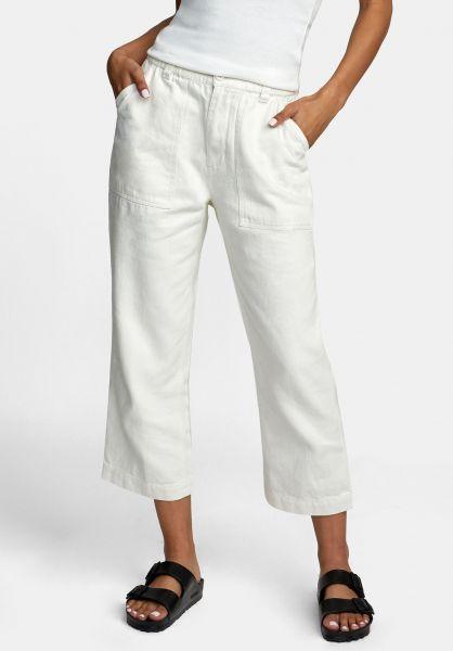 Pantalón ancho RVCA de corte relajado para mujer NEUTRAL HEMP SILVER BLEACH (2632) Ref. W1PTRDRVP1 blanco