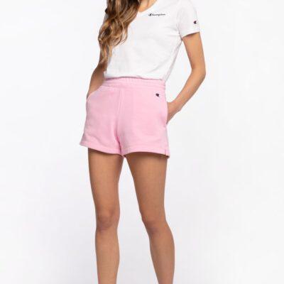 Pantalón corto CHAMPION mujer tirantes cintura racer SHORTS Pink Ref. 113938 rosa palo
