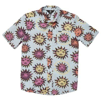Camisa VOLCOM de Manga corta surera Niño OZZY SUN SHIRT AETHER BLUE Ref. C0412111 azul soles multicolor