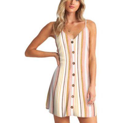 Vestido corto BILLABONG tirantes para mujer Swett For Ya SALT MULTI Ref. W3DR46BIP1 bandas rosa Nueva colección 2021