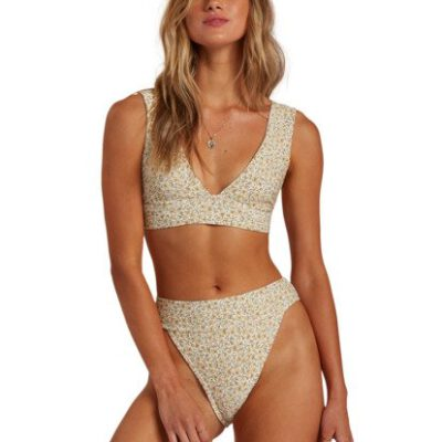 Sujetador de bikini BILLABONG Top de Bikini para Mujer Summer Love Plunge COOL WIP Ref. W3ST81BIP1 blanco/amarillo flores