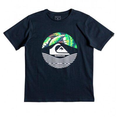 Camiseta QUIKSILVER manga corta niño (bsto) ref. EQBZT03895 azul marino logo frontal