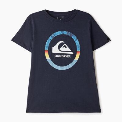 Camiseta QUIKSILVER manga corta niño Classic snake dreams ref EQBZT04066 azul marino logo frontal