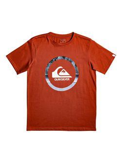 Camiseta QUIKSILVER manga corta niño Classic snake dreams ref EQBZT04066 color naranja-teja logo frontal