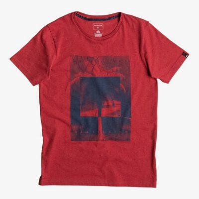 Camiseta QUIKSILVER manga corta niño Classic snake dream ref EQBZ03459 color rojo logo frontal