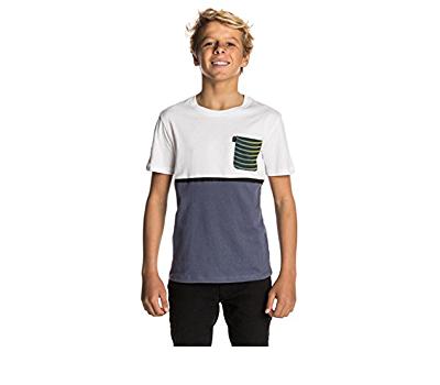 Camiseta RIP CURL Niño manga corta surfera Combine Pocket SS Tee optical white Ref. KTELW4 azul bolsillo pecho
