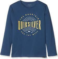 Camiseta manga larga niño Quiksilver Classic Mad Wave Black (brqo) Ref. EQBZT03573 negro logo pecho
