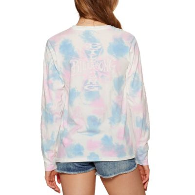 Camiseta Mujer BILLABONG manga larga Cross Long Sleeve T-Shirt MULTI (1220) Ref. S3LS80BIMU Tie-Dye azul/rosa