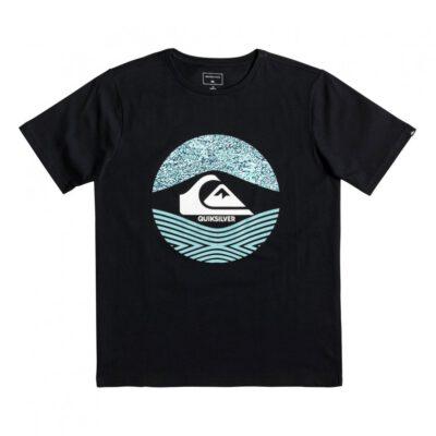 Camiseta QUIKSILVER manga corta niño (KVJO) ref. EQBZT03895 negro logo frontal