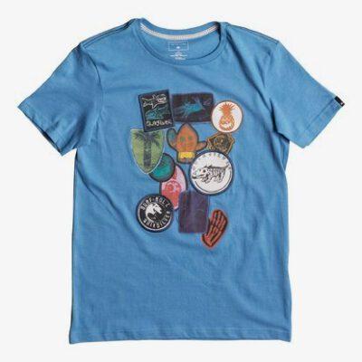 Camiseta QUIKSILVER manga corta niño badges classic (bllo) ref. EQBZT03586 azul parches