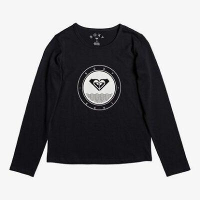 Camiseta ROXY niña manga larga SO AMAZING Ref. ERGZT03458 negro logo corazón y dorado
