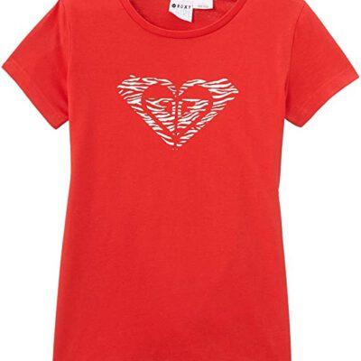 Camiseta ROXY niña manga corta Bring IT Back A (rmzo) Ref. ERGZT03012 roja logo corazon blanco