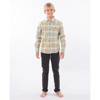 Camisa de Manga Larga Niño Rip Curl Check This Long Sleeve Shirt Boy Ref. KSHDR9 cuadros beige y verde agua