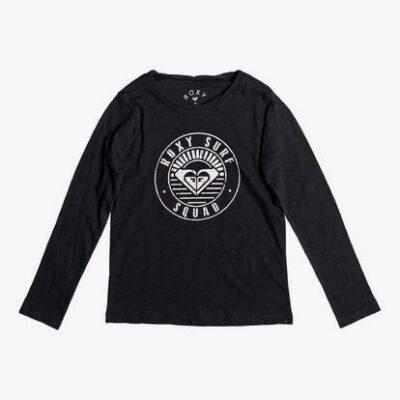 Camiseta ROXY niña manga larga gradual awakening A Ref. ergzt03215 Color negro dibujo corazon