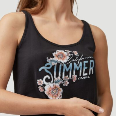 Camiseta Mujer BILLABONG tirantes MIX AND MATCH TANKTOP Black Out Ref. 1A6918 Negra flores pecho