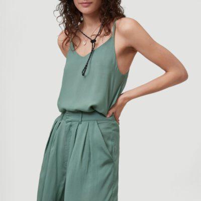 Pantalón corteo O'NEILL fluido y cómodo para Mujer GLOBAL PRINT SHORTS Dark Ivy Ref. 1A7522 Verde liso