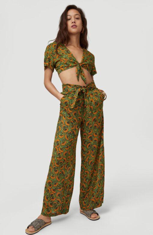 Pantalón fluido O'NEILL práctico y cómodo para Mujer PANTS ALL OVER PRINT Yelow/Green Ref. 1A7750 amarillo/verde flores