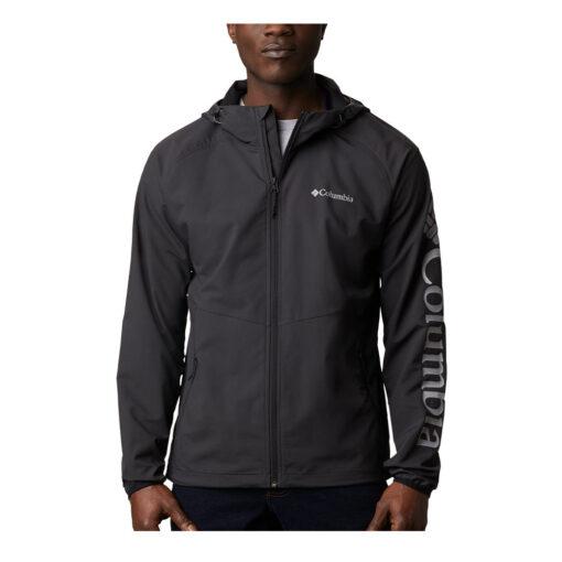 Chaqueta COLUMBIA con capucha y aislamiento para hombre Panther Creek™ Black Ref. 1840711011 negra logo manga