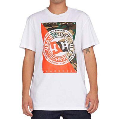 Camiseta DC Shoes surfera para hombre manga corta Warfare White Ref. EDYZT04194 blanca/camuflaje
