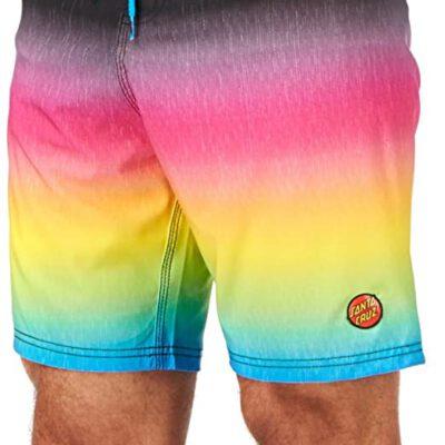 Bañador SANTA CRUZ surfero Hombre Short elástico Fader Boardshort Ref. SCBSF multicolor